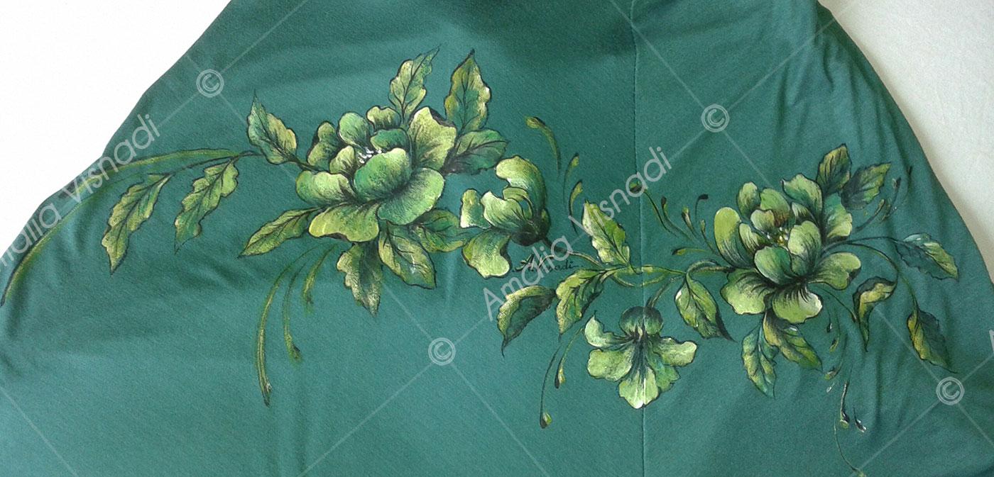 Amalia Visnadi_Abito verde macchiato recuperato
