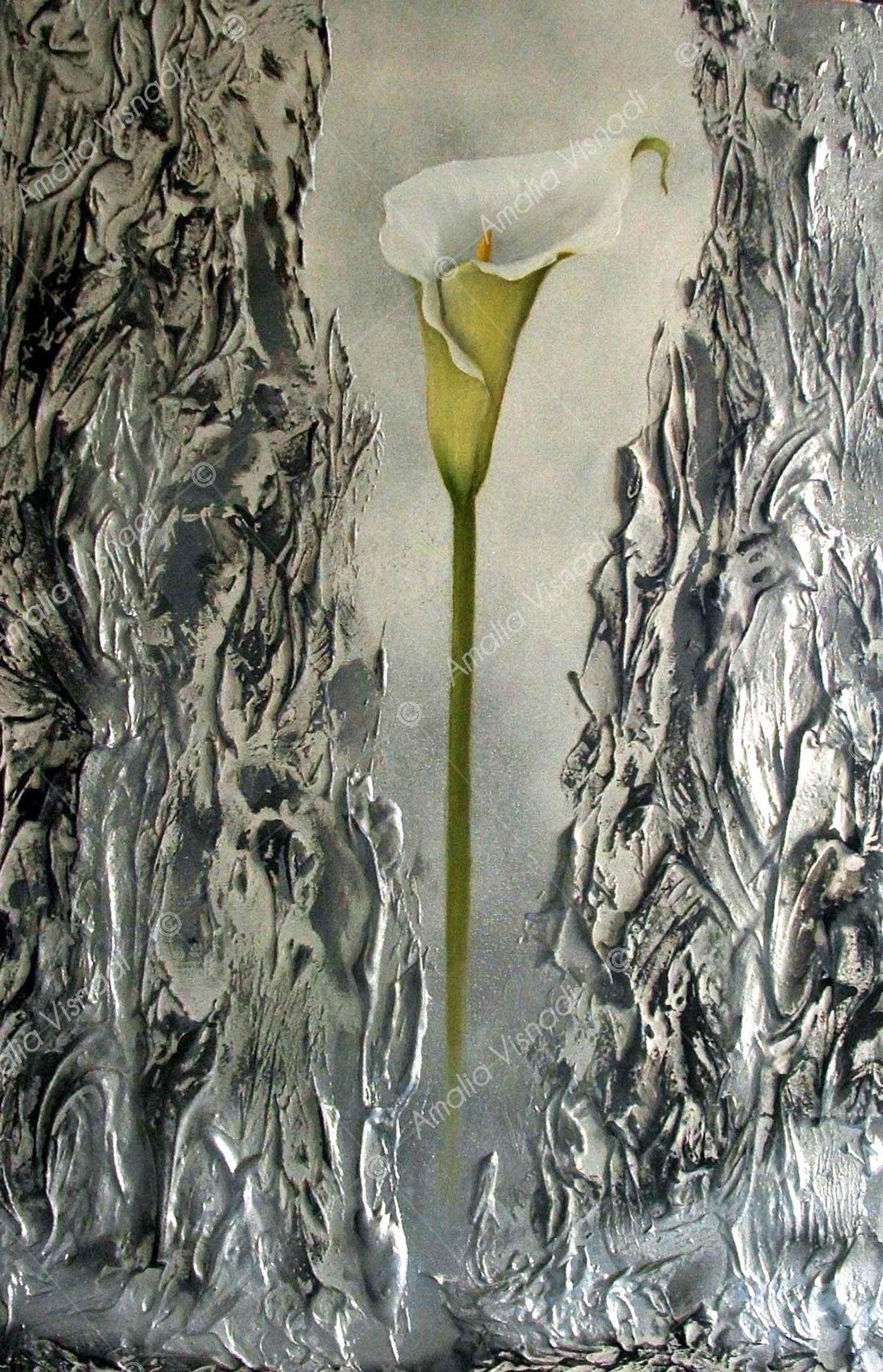 Calla_Acrilico e olio su tela 40 x 60