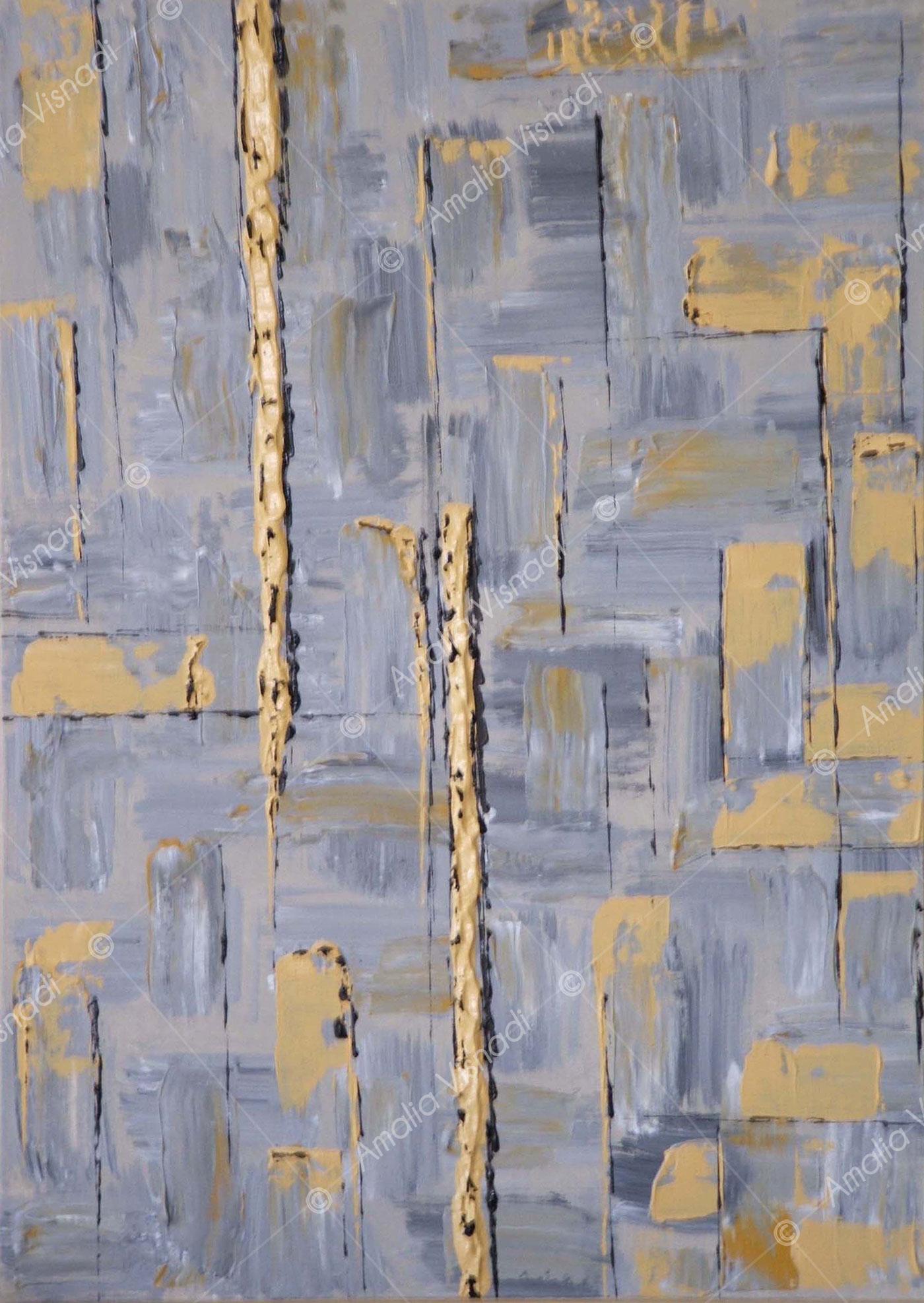 Città nella nebbia_Acrilico su tela 50 x 70