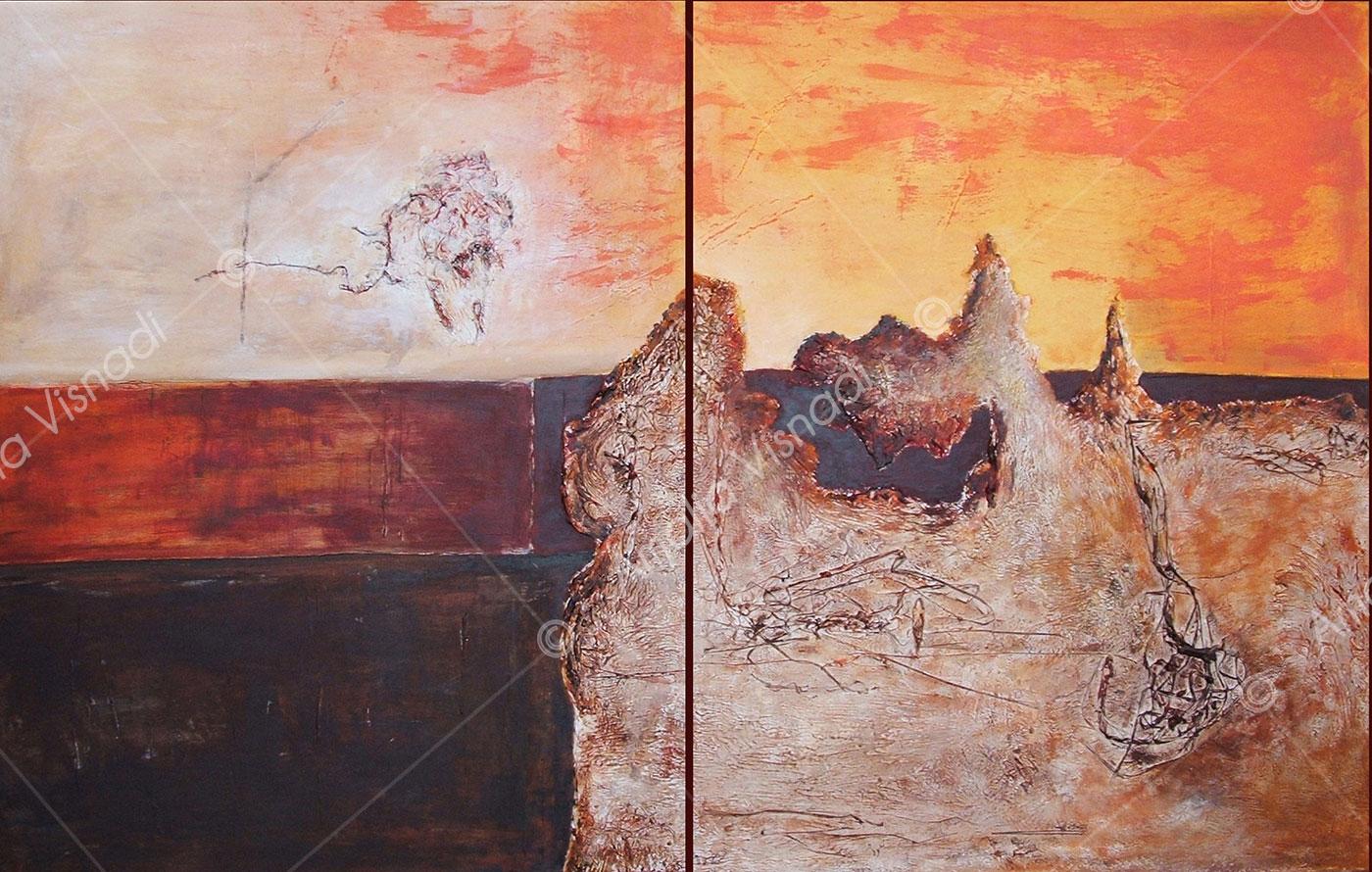 Deserto biblico_Acrilico materico su tela 160 x 100
