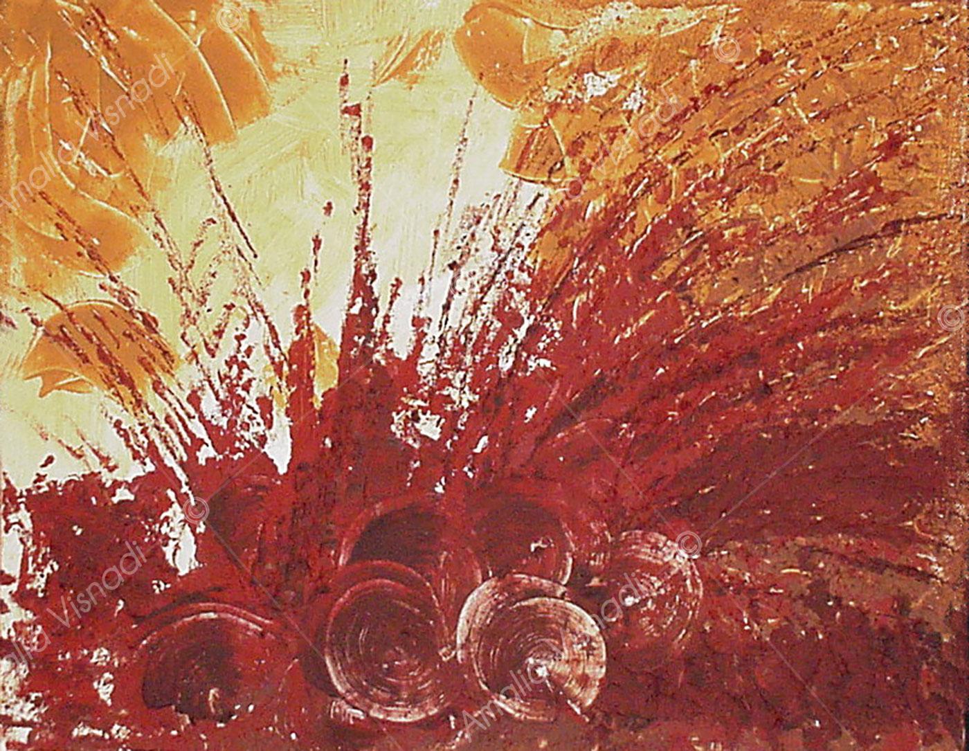 Esplosione a Roussillon_Olio e pigmenti su tela 50 x 60