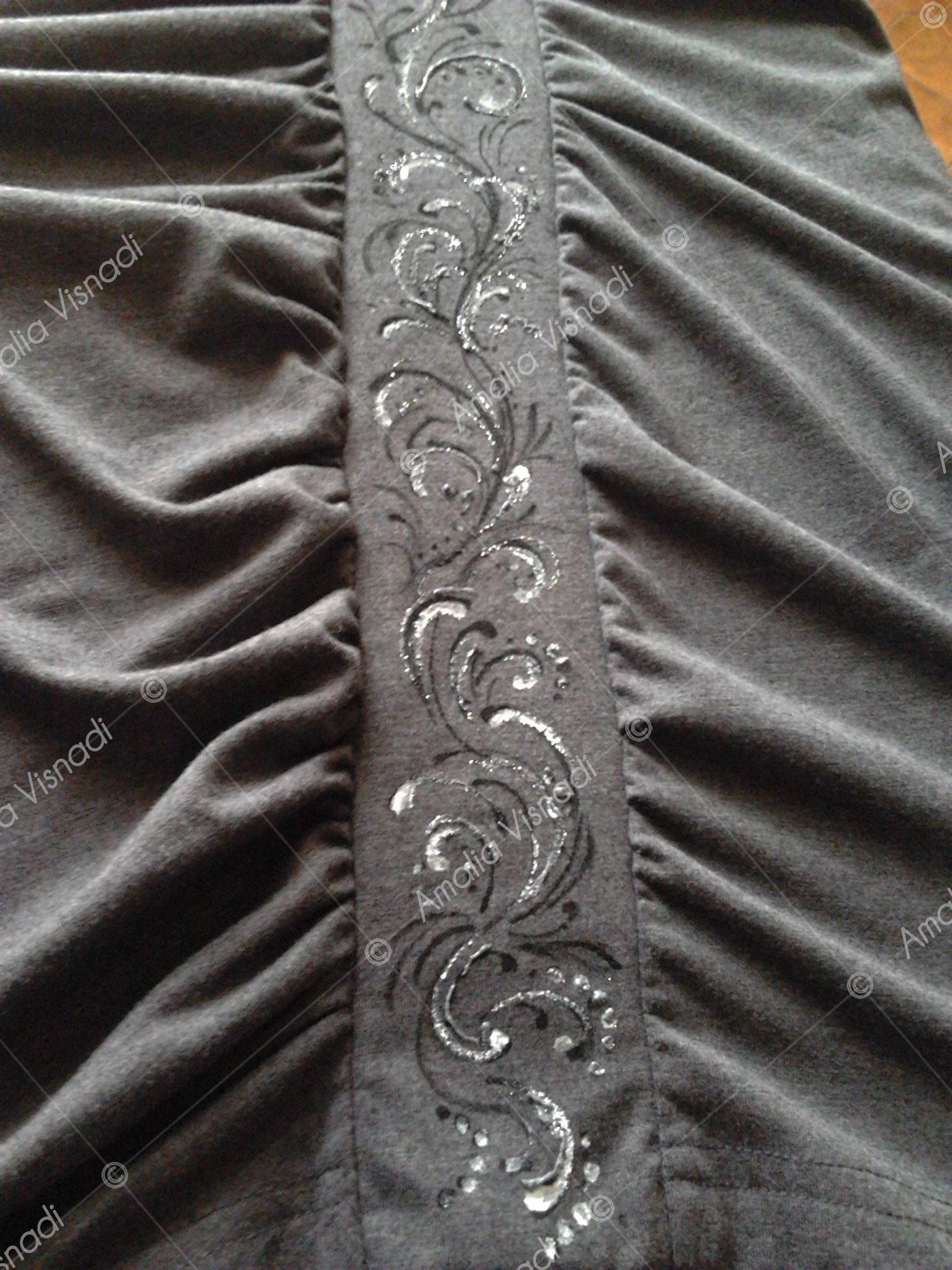 Amalia Visnadi_Fascia su abito elegante Decorata