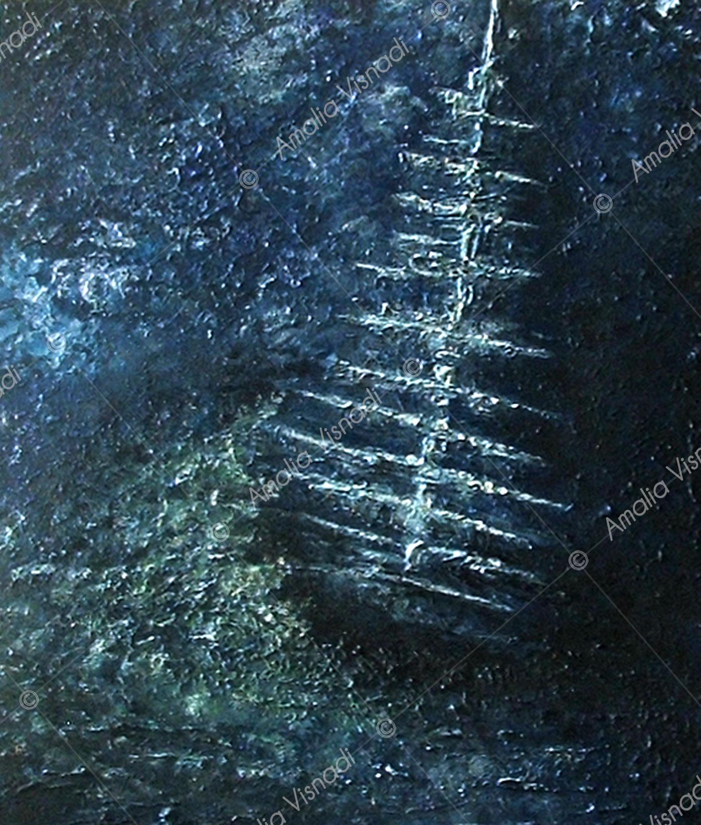 Il vascello fantasma_Acrilico materico su tela 40 x 50