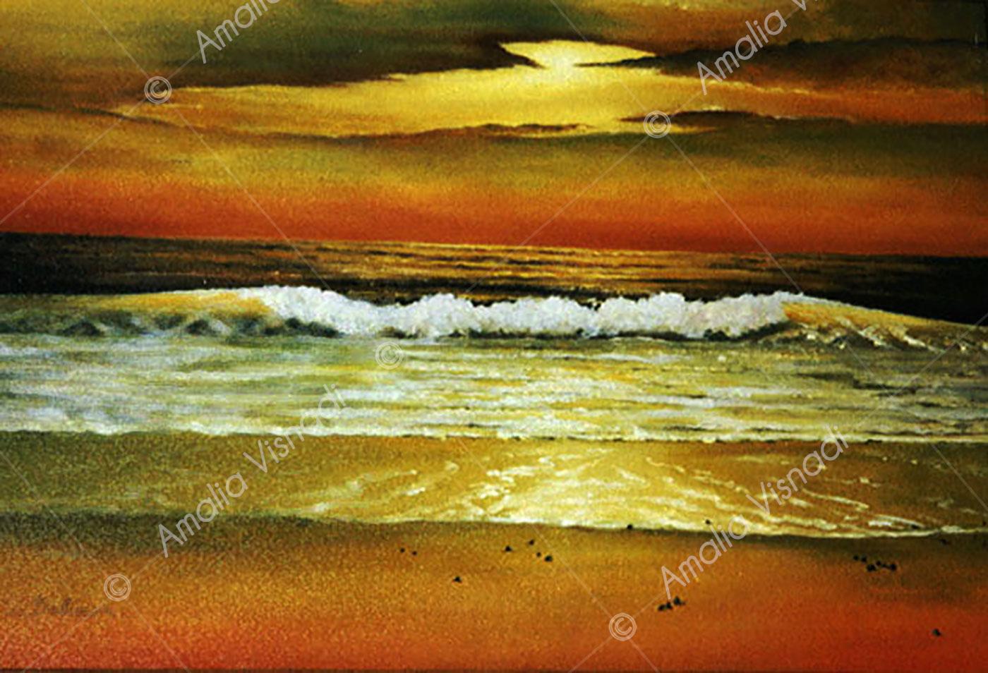 Il calore del mare_Olio su Tela 50 x 60