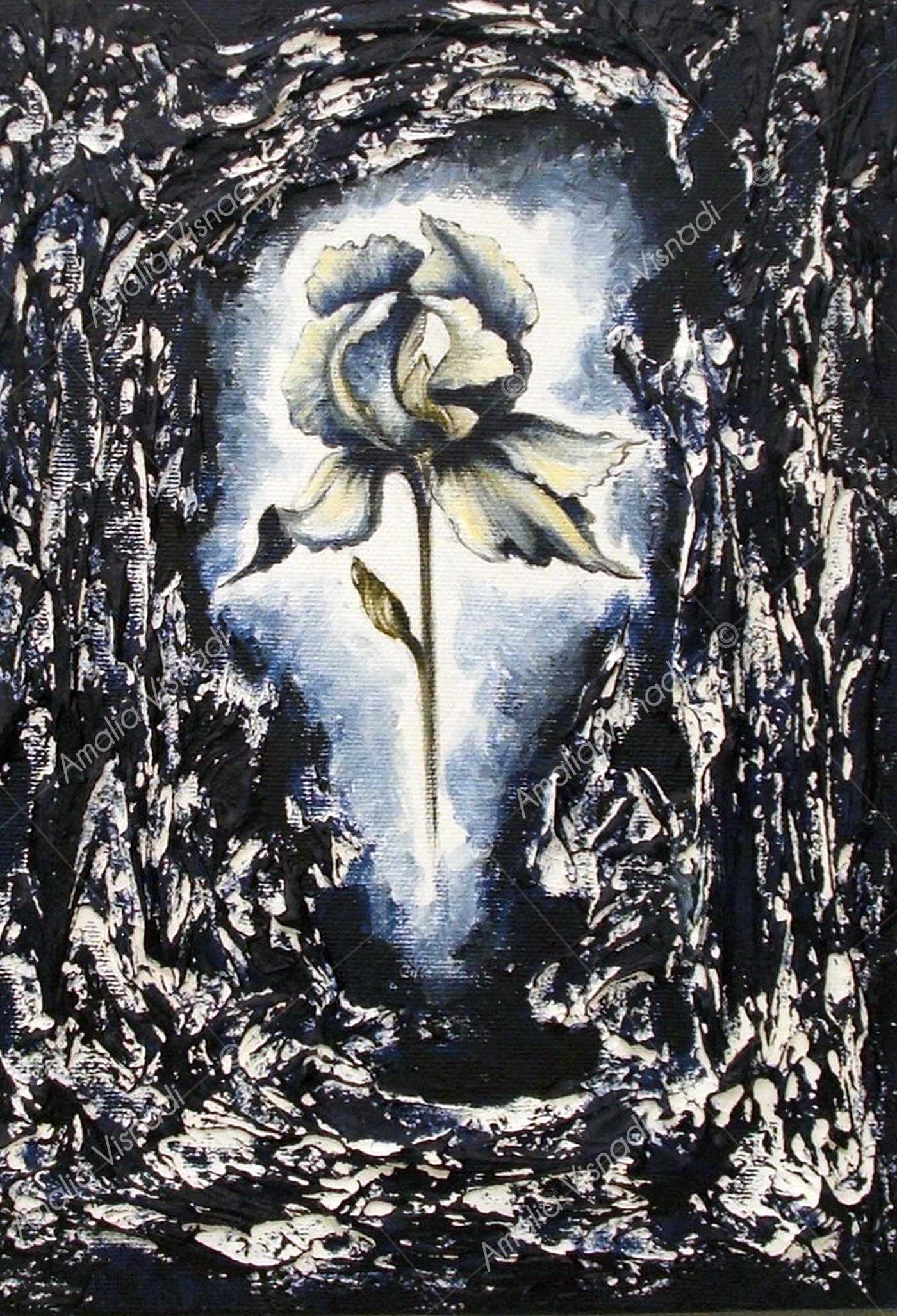 Iris_Acrilico e olio su tela 24 x30