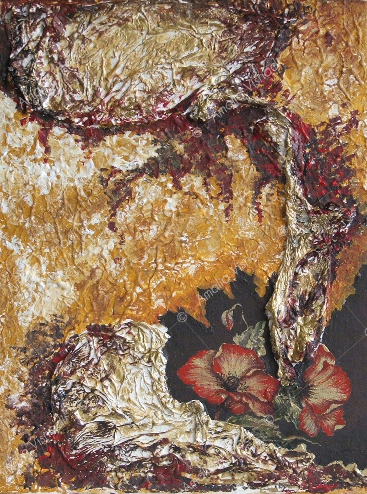 Papaveri_Acrilico e olio su tela 30 x 40