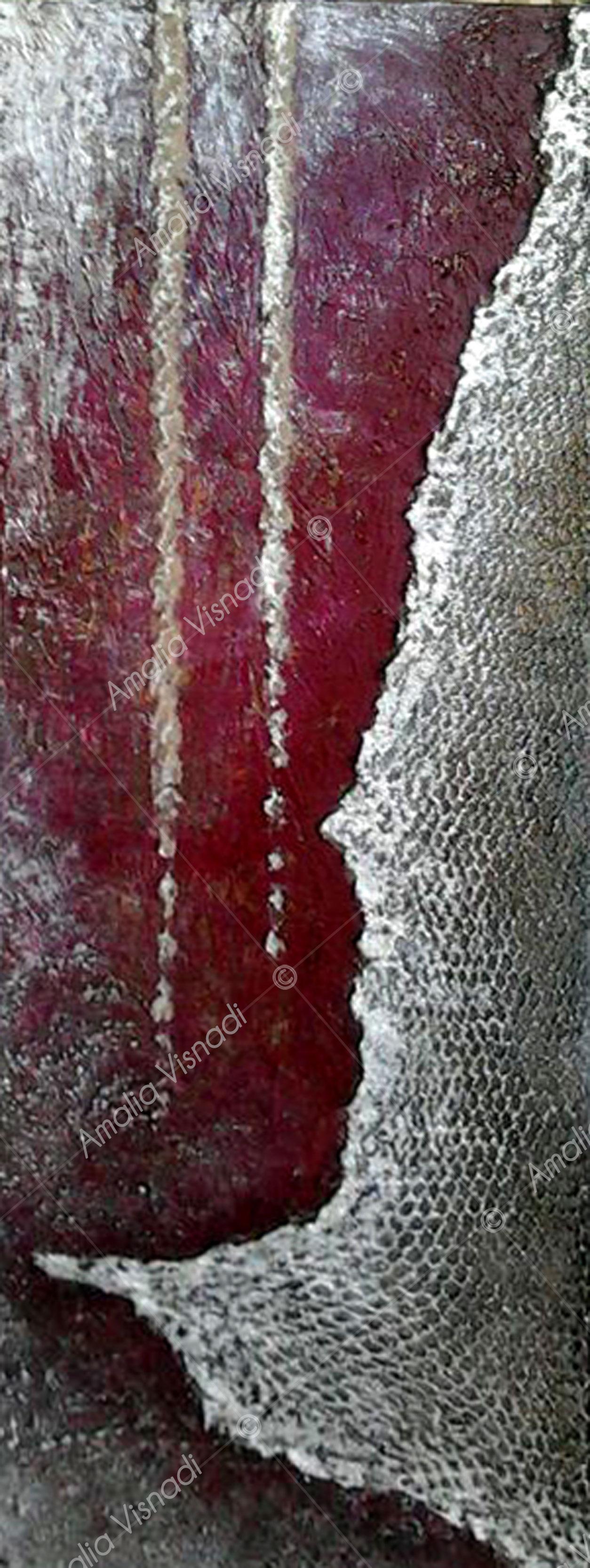 Stalattiti_Acrilico materico su tela 20 x 70