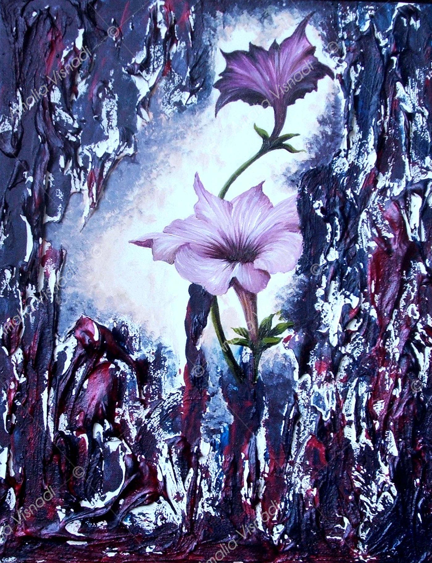 Surfinie_Acrilico e olio su tela 24 x30