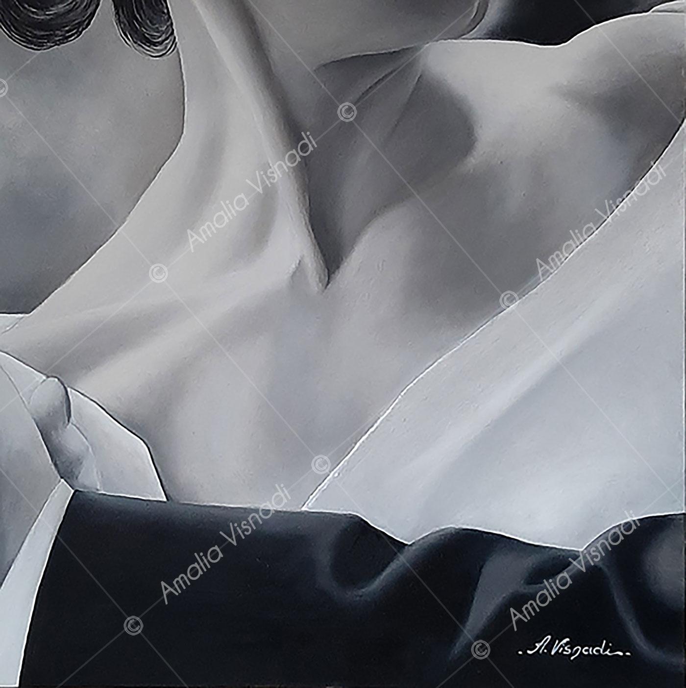 L'eleganza del tango_Olio su Tela 40 x 40